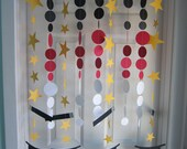 Paper Garland, Magic Decorations, Magic Party, Magic Hats and Wands, Birthday Party Decoration, Carnival Party