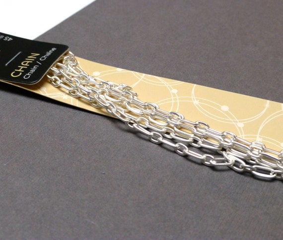 sale silvertone chain bead landing matt finish