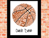 Basketball... Typography Art, 8x10