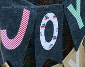 JOY felt banner