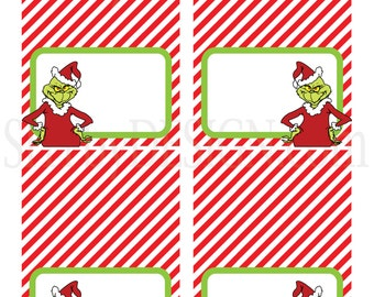 Intrepid image inside grinch printable template