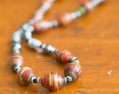 Winter Embers Beaded Necklace - Support Adoption