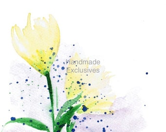 Handpainted Greeting card, Daylilies, Watercolor Card, Easter, Mother's day, Blank, under 10, Handmade Exclusives