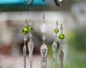 Antique Silver Plated Teapot Wind Chime with Beads