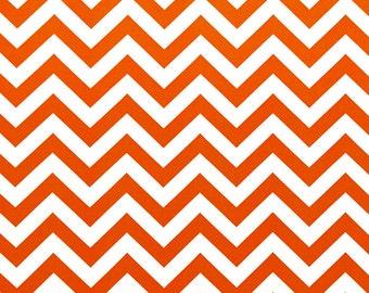 Orange Chevron Curtain Panels or Valance