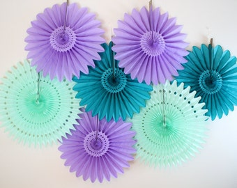 Wedding Decor- Tissue Paper Fans, wedding, bridal shower,engagement party decor