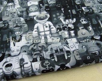 "3270A  - 1 yard Vinyl Waterproof Fabric - Cartoon - Robert  - 57""x36"""