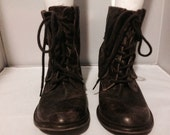 Mia limited Edition Boots distressed leather sz 8.5
