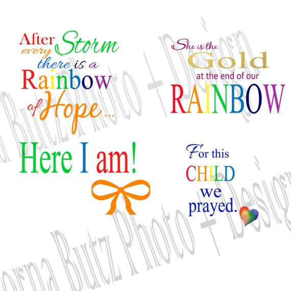 Brilliant Cute Quotes Download: Instant Download Of Rainbow Baby Quotes By Greenearthstudio