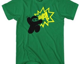 Ninja Jump T-shirt - Men and Unisex - Shawnimals Tee - XS S M L XL 2x 3x 4x - 4 Colors