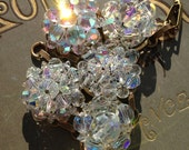 Crystal bead clip on earring bracelet