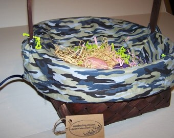 Personalized Camo  Basket Liner