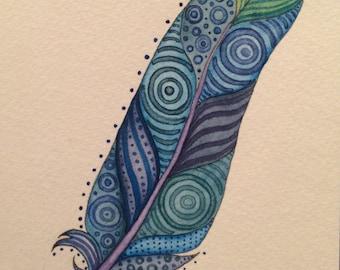 OOAK Watercolor Commission DEPOSIT