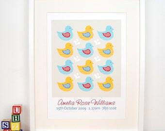 Personalised Children's Ducks Print
