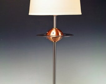 Retro UFO Flying Saucer table lamps.. 237. Steam punk industrial lamp. Mid century modern. 50s Atomic.  FAR OUT