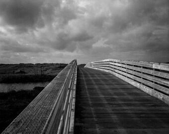 Black & White Photography, Footbridge, Copalis Beach, Olympic Peninsula, Washington Coast