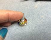 Ear Cuff Rainbow beaded Non Pierced