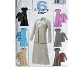 Jacket Dress Pattern Butterick 4341 Size Large