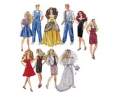 Fashion Doll Clothes 11 1/2 Inch Dolls Pattern McCall's 6317 1:6 Scale