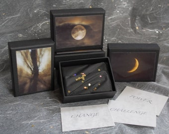 Daily Contemplation Cards, Moon meditations, Meditation aids, self development, box of power words, affirmation cards, healing, moondreamin