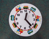 Vintage Children's Train Theme Wall Clock