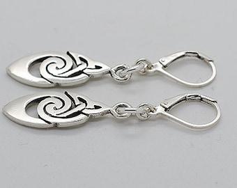 Sterling Silver Lever Back Earrings S07