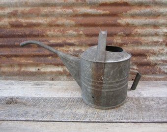 Huge Antique Metal Galvanized Watering Can Automotive Radiator Possibly Railroad Train Fill Can Garage Decor Man Cave Auto Rustic Gardening