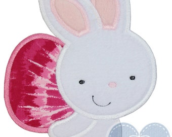 Easter Bunny with Pretty Egg Applique Embroidered Patch , Sew or Iron on