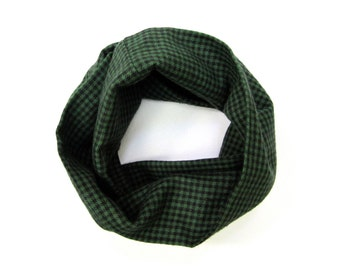 Flannel Scarf, Green Scarf, Toddler Scarf, Girl Scarf, Boy Scarf, Baby Bib Scarf, Children Clothing, Under 20 Dollars, Ready to Ship