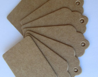 50 Blank Kraft Paper Punched Hang Tags