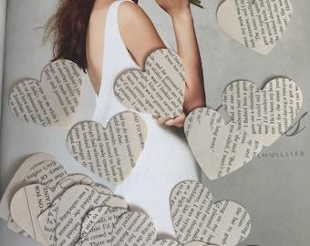 500 pieces heart punches/ VINTAGE paper hearts wedding, party decoration confetti hearts/ wedding hearts/Valentine's decor/Confetti paper