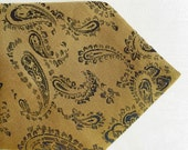 "Vintage mens tie, ochre with black paisley..... ""Like"" our fb page for 10% discount"