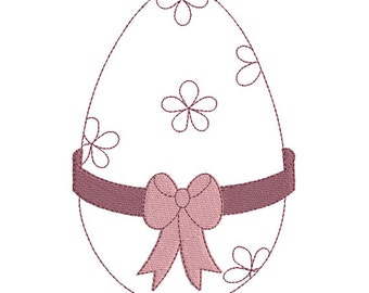 Easter egg embroidery design instant download