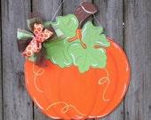 Pumpkin Door Hanger, Fall Door Hanger, Pumpkins, Autumn, Harvest Decor