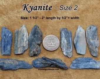 Kyanite (size 2) blade raw rough stone crystals