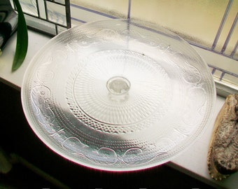 Vintage Pedestal Cake Stand Glass Dessert Stand