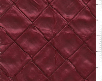 "54"" Solid Burgundy Pintuck Taffeta Fabric-15 Yards Wholesale by the Bolt"