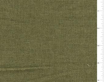 "60"" Olive Green Vintage Look Linen Fabric-15 yard bolt"