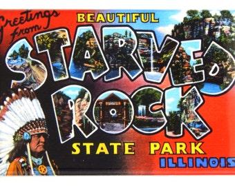 Greetings from Starved Rock Illinois Fridge Magnet