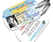 Dog Tags - Minnesota Driver's License Pet Tag - Personalized Pet Tags, Custom Dog Tags, Dog ID Tags, Dog Tags for Dogs, Dog License Tags