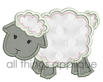 Easter Applique Design - Baby Lamb Applique Design (#633) - 4 Sizes Included - INSTANT DOWNLOAD