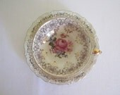 ANTIQUE 1940s ALKA fine china demitasse - cup and saucer