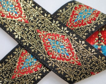 Opulent Geometric Woven Jacquard Trim 15/16 inches wide - Two, Five, or Ten Yards