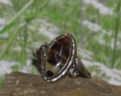 Sterling silver  agate ladies /  womens ring