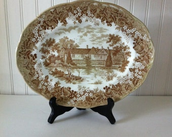J & G Meakin plate - Ightham Mote plate - English plate