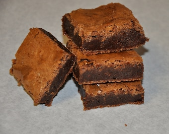 16 Chocolate Brownies Fudgy Delicious Holiday Cookie gift !
