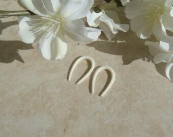 Bone earrings / bone expanders ear hook / white bone earring gauges plugs