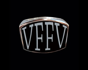 Stainless Steel VFFV 4 Letter Ring - Free Re-Size/Shipping