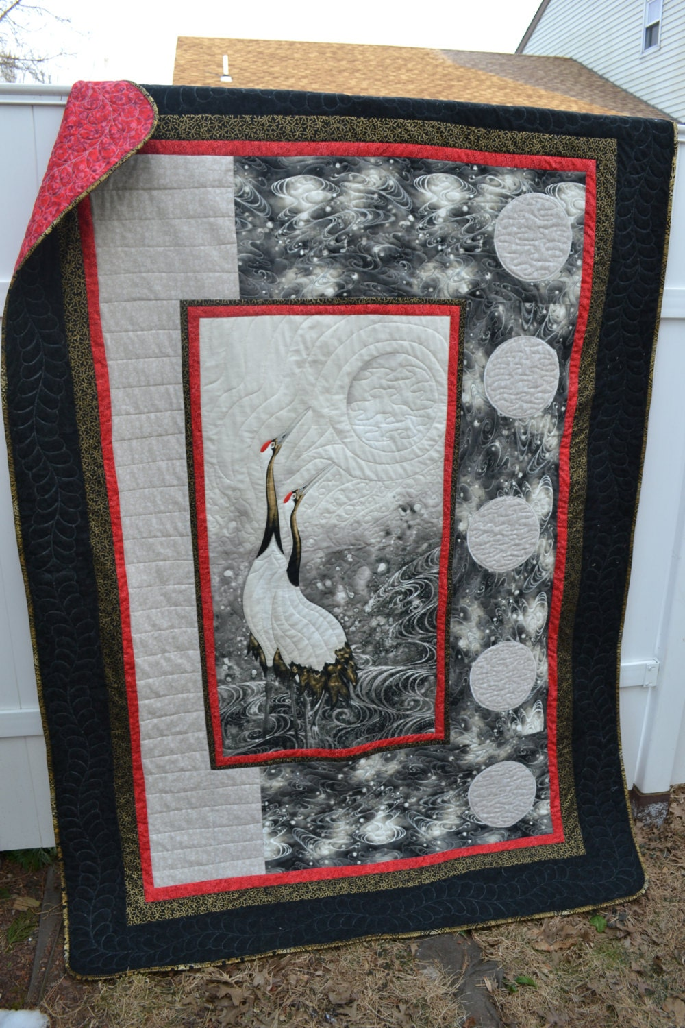 Handmade asian quilt retirement gift fathers day present for Japanese inspired gifts