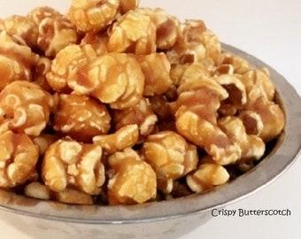 CRISPY BUTTERSCOTCH Freedom Snacks Handcrafted Glazed Gourmet Popcorn